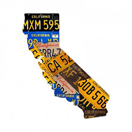 スティール サイン (スチール サイン) California License Plates PS-096
