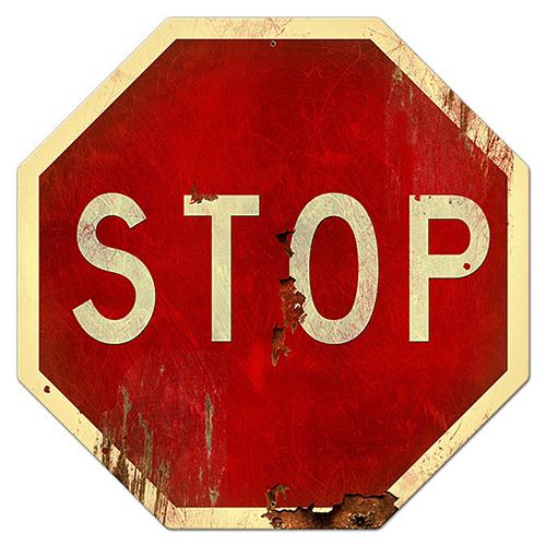 スティール サイン (スチール サイン) Stop Sign PS-097