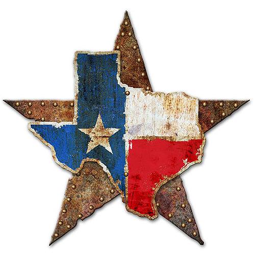 スティール サイン (スチール サイン) Texas Star 3D Shapes RB-170