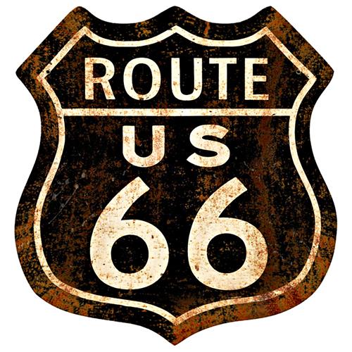 スティール サイン (スチール サイン) Route 66 Rusty RPC-244