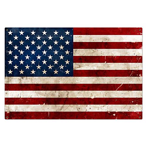 スティール サイン (スチール サイン) USA Flag VXL-146