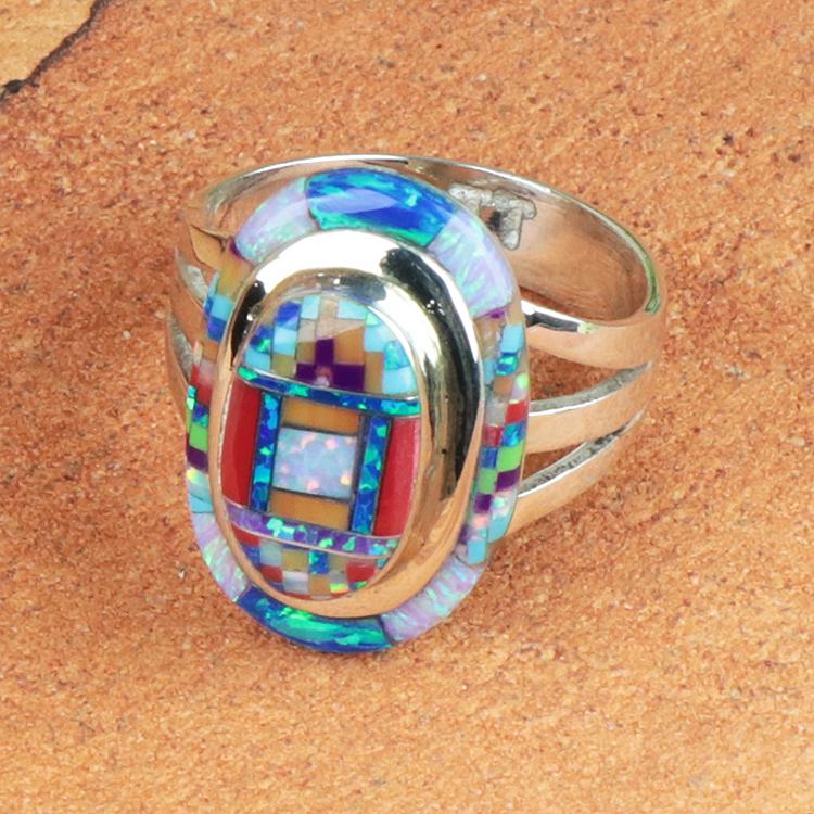 ジュエリー HM-RN-49-02-185 リング (ホリー・モザイク) Mosaic holy オパール