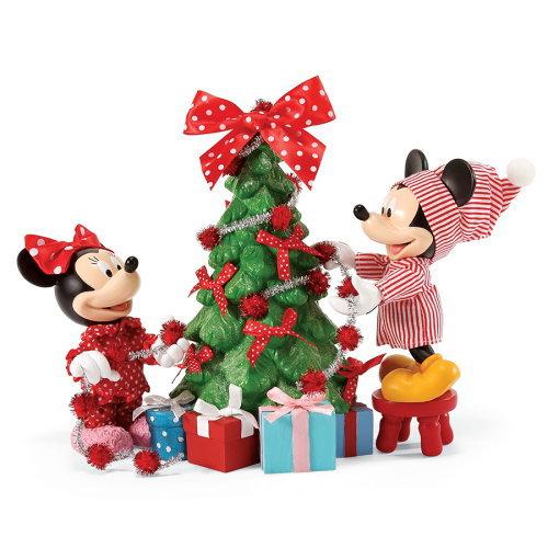 Department 56 フィギュア ミッキー&ミニー ウィズ クリスマスツリー <クリスマス> DIS-TB-4057029