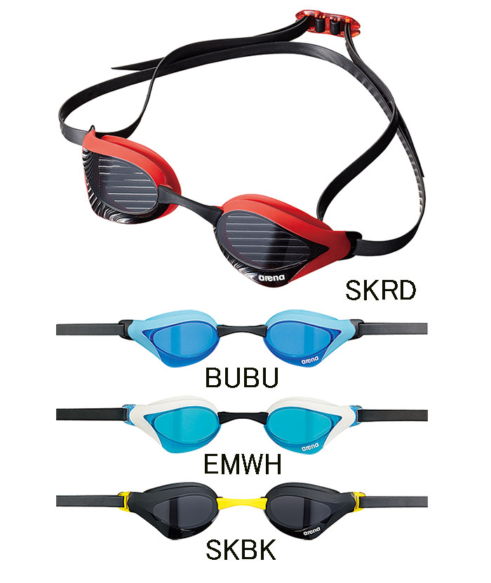 供有AGL-230 arena体育馆COBRA CORE眼镜蛇核心风镜靠垫的游泳风镜游泳风镜阴结尾游泳游泳比赛使用