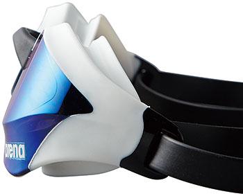 供有AGL-240M arena体育馆COBRA CORE眼镜蛇核心镜子风镜靠垫的游泳风镜游泳风镜阴结尾游泳游泳比赛使用