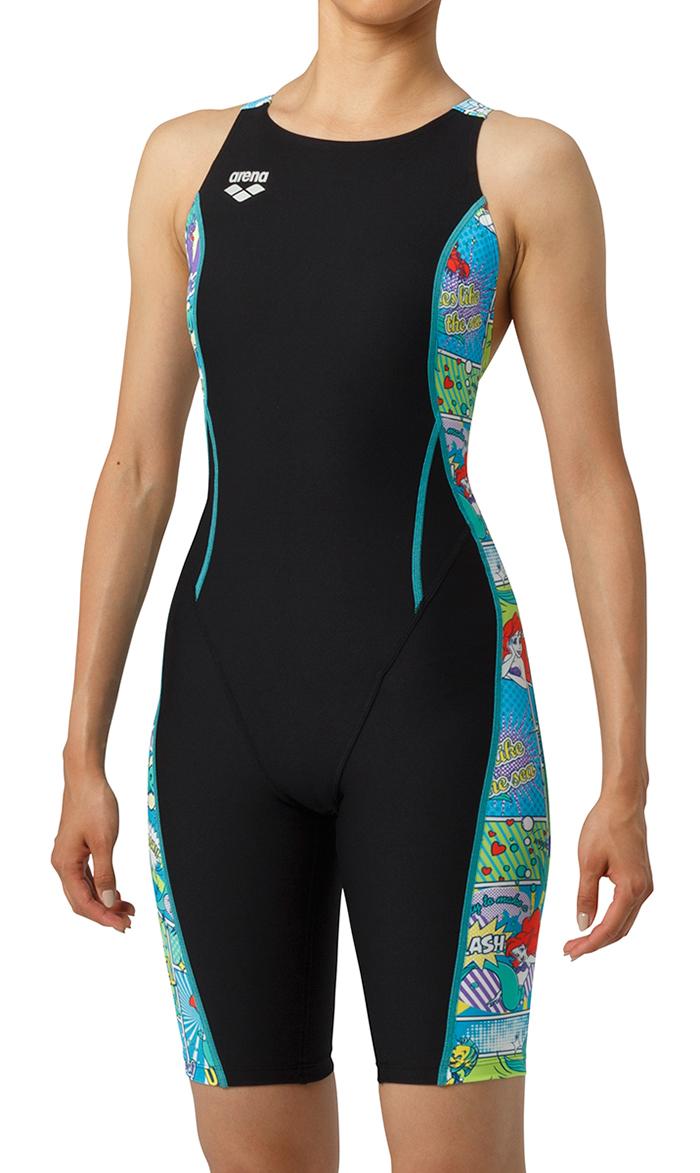 【あす楽対応】DIS-9308W arena アリーナ disney ディズニー ToughSuit タフスーツ ミッキー レディース 女性用 ハーフパッツ ハーフスーツ タフスキン 練習用水着 練習水着 競泳水着 競泳用水着