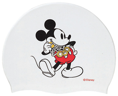 Only as for the white! DIS-2358 arena arena disney Disney Mickey swimming cap swimming cap silicon cap swimming swimming race fs3gm