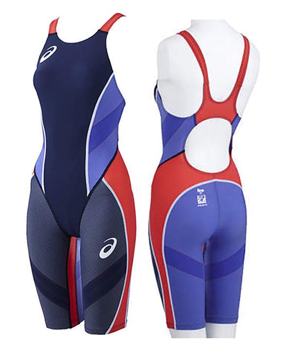 只青少年140尺寸!有到达供小ASL503 asics亚瑟士最高层冲击线缝助型号Top Impact Line RAiOstream女子小孩使用的游泳比赛游泳衣hafusupattsu高速游泳衣游泳比赛灌溉用水手套