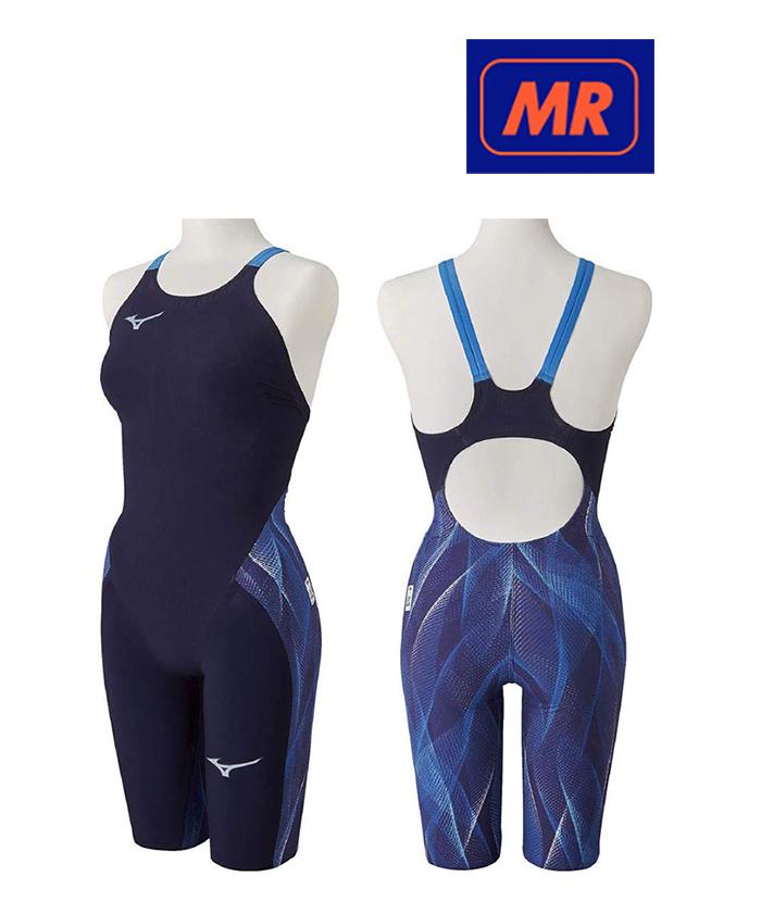 【送料込】【FINA承認】ジュニア140サイズのみ!N2MG0202 mizuno ミズノ GX-SONIC5-MR ジュニア女子 子供用 ハーフスーツ ハーフスパッツ 競泳水着 競泳用水着 高速水着