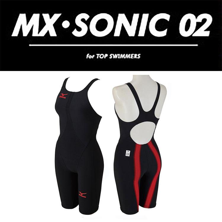 【あす楽対応】【FINA承認】Mサイズのみ!N2MG6211 mizuno ミズノ MX-SONIC02 レディース 女性用 ハーフスパッツ ハーフスーツ 競泳水着 競泳用水着