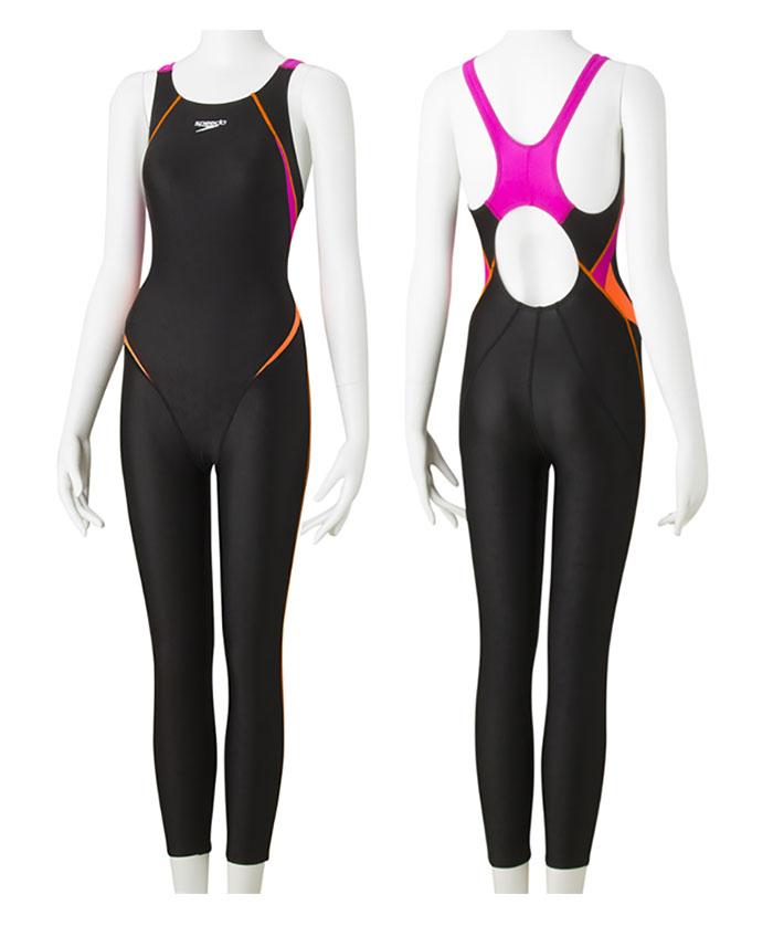 【あす楽対応】SD48G08 speedo スピード FLEXΣ フレックスシグマ レディース 女性用 ロングジョン ロングスパッツ 競泳水着 競泳用水着