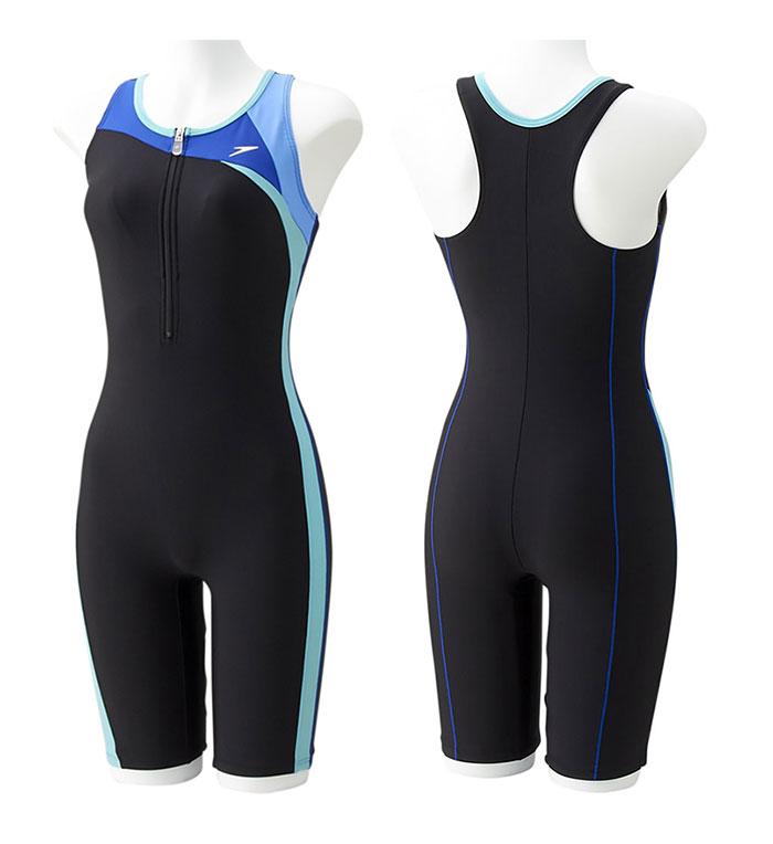 【あす楽対応】Sサイズのみ!SD57N42H speedo スピード レディース 女性用 フィットネス水着 スパッツスーツ ハーフスーツ オールインワン水着
