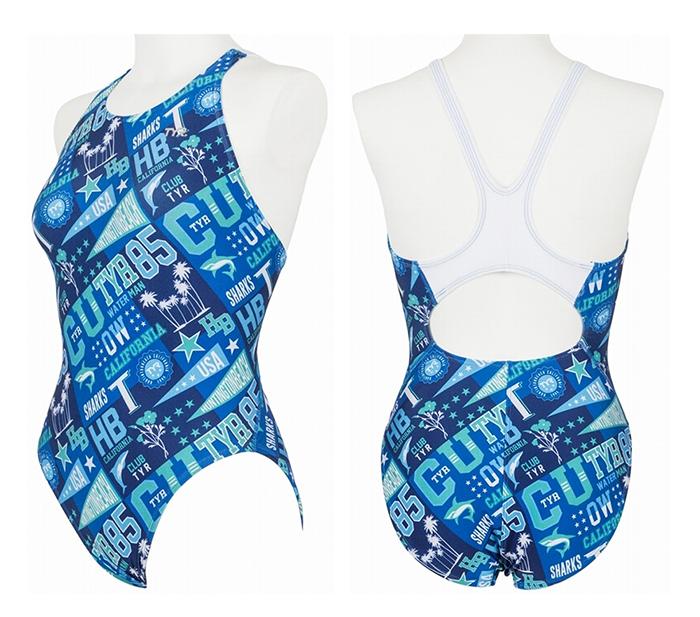 【あす楽対応】MJMBO-18M TYR ティア レディース 女性用 練習用水着 練習水着 競泳水着 競泳用水着 BL