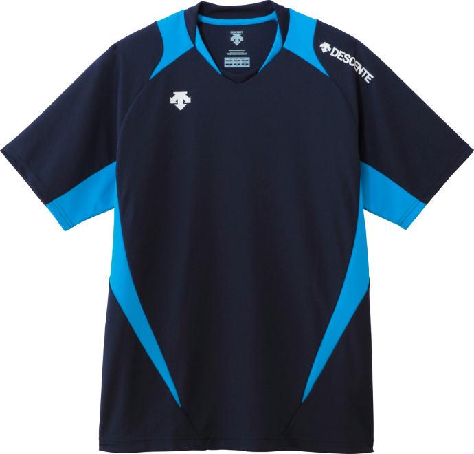 ■DESCENTEのウェア DESCENTE デサント 割り引き H S GAME SHIRT 1612 バレー スポーツ 半袖ライトゲームシャツ DSS5420 永遠の定番モデル NVY 運動