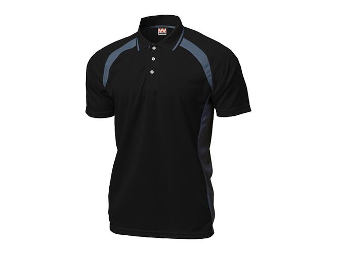 ■WUNDOUのウェア WUNDOU ウンドウ ベーシックテニスシャツ ブラック P-1710J 1710 子ども テニス 店 ウェア 子供 至高 ジュニア キッズ