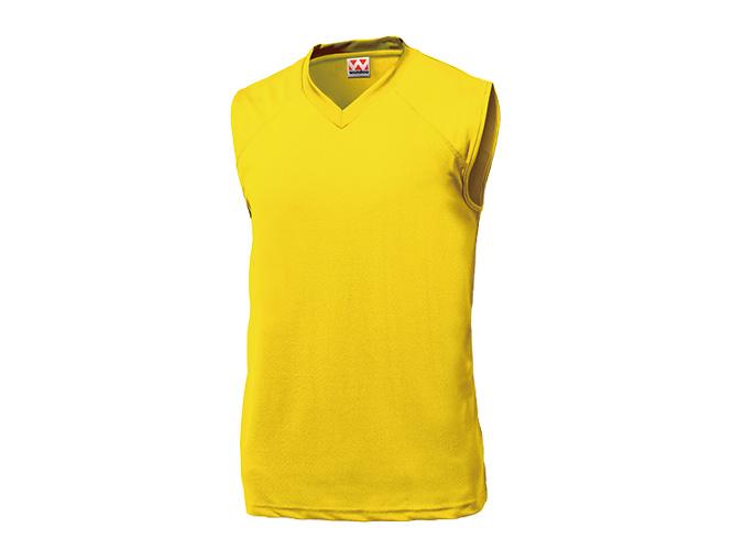 ■WUNDOUのウェア WUNDOU ウンドウ ベーシックバスケットシャツ イエロー P-1810 購入 1710 お気に入 男性 バスケット ウェア 紳士 メンズ ポイント消化