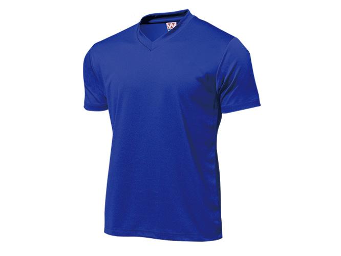 ■WUNDOUのウェア WUNDOU ウンドウ ドライライトVネックTシャツ ロイヤルブルー 特価 P-390J 1710 ポイント消化 ジュニア 子供 オールスポーツ キッズ 高級 子ども ウェア