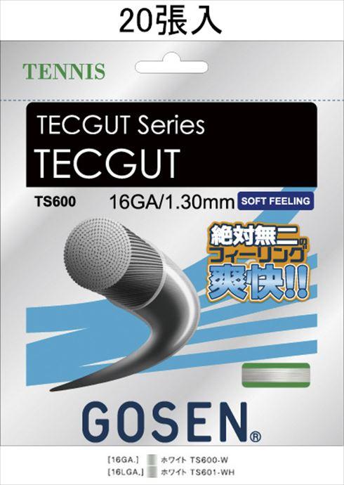 《送料無料》GOSEN(ゴーセン) テックガット16 ノンパッケージ20張SET TS600W20P 1805 【メンズ】【レディース】 テニス ガット(国内)