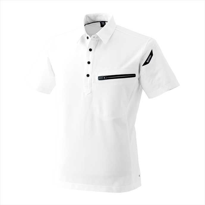 ■TS DESIGNのウェア TS DESIGN TSデザイン ESワークニットショートポロシャツ ホワイト 81355 ユニフォーム 2002 藤和 作業服 低価格 本店