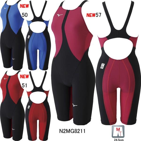 【5/15当店ポイント最大33倍!】【34%OFF】ミズノ(MIZUNO)女性用 競泳水着 MX-SONIC02 ウイメンズハーフスーツ N2MG8211