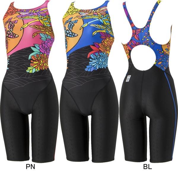 【35%OFF】スピード(SPEEDO)女性用 競泳水着 FLEX ΣウイメンズセミオープンバックニースキンSD48H58