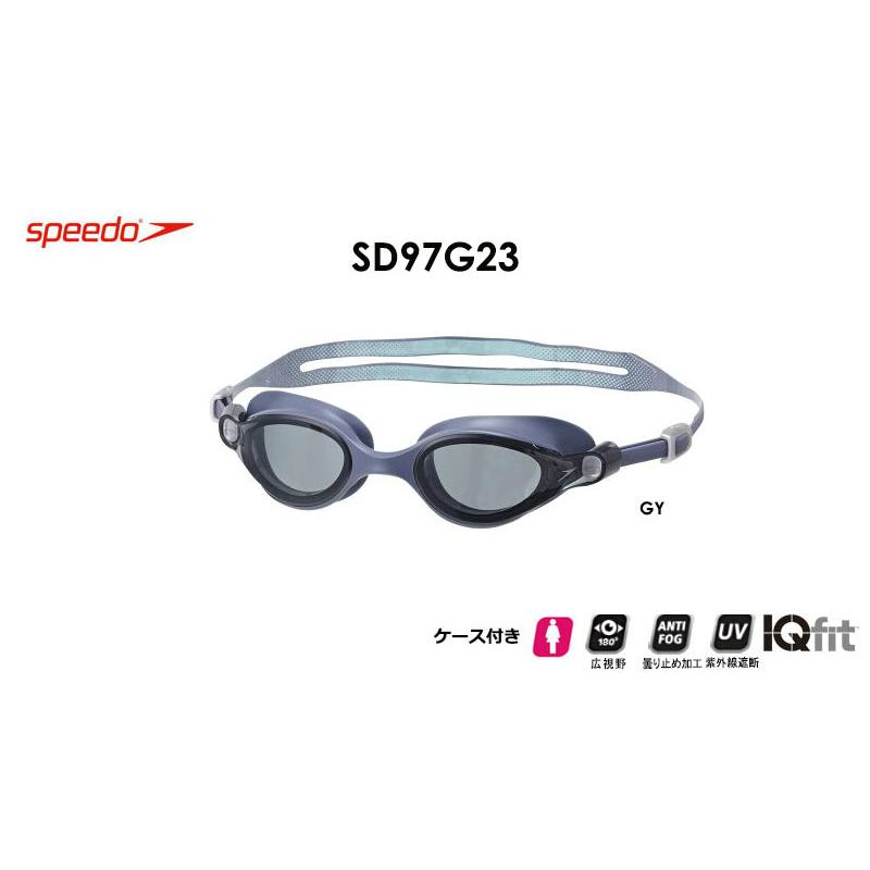SD97G23 speedo Virtue スピード ヴァーチュ クッション付き レディースゴーグル GY グレイスイムゴーグル くもり止め 水泳 競泳用 フィットネス