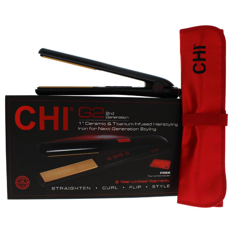 【正規品】【送料無料】【CHI】G2 Ceramic Titanium Infused Hairstyling Flat Iron - Model # GF1595 - Black1InchG2セラミックチタンフューズヘアスタイリングフラットアイアン - モデル#GF1595 - ブラック【海外直送】