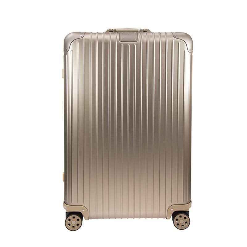 全国一律送料無料 リモワ キャリーケース 4輪 キャリーバッグ 希望者のみラッピング無料 TSAロック マルチホイール 大きめ 長期 旅行 出張 トラベル ビジネス バッグ ORIGINAL 公式 チェックイン 86L 92573034 アルミニウム Check-In RIMOWA スーツケース オリジナル カバン L ゴールド チタニウム