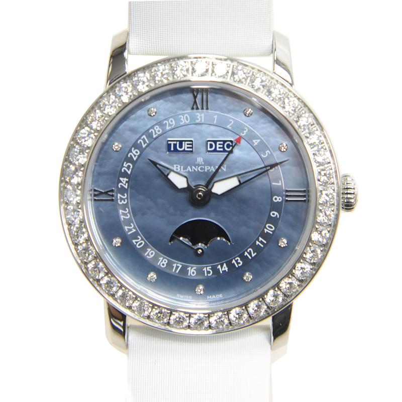 [取り寄せ/新品] BLANCPAIN ブランパン 女性用 ステンレス/ダイヤ入り ブルー 自動巻き 3663-4654L-52B