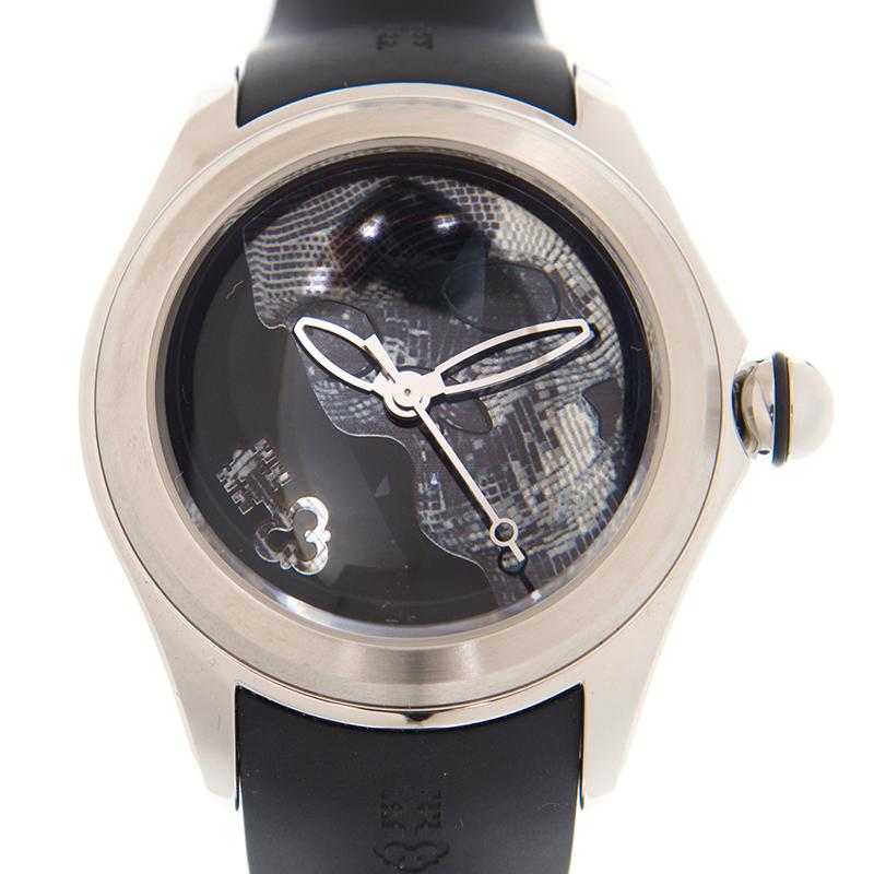 【まとめ買い】 [SALE][新品] CORUM コルム 082.310.20/0371 SK01 バブル スカル リミテッド ブラック ステンレス/ラバー 自動巻き 47mm メンズ腕時計, 4U clothing カジュアル&ブランド 56b35c1d