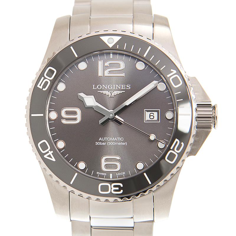 憧れの ロンジン LONGINES ハイドロコンクエスト L3.782.4.76.6 ステンレス ステンレス サンレイグレー 自動巻き 43mm LONGINES 43mm メンズ腕時計, ファンシーステーションMay:e806c003 --- askamore.com