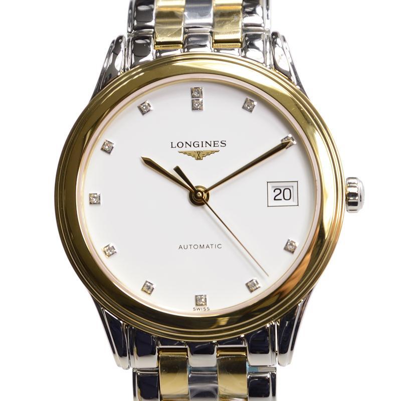 [新品] LONGINES ロンジン L4.774.3.27.7 フラッグシップ 12Pダイヤ 自動巻き 腕時計 ユニセックス 男女兼用