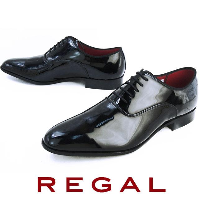 【送料無料】(一部地域除く) リーガル メンズ 靴 426R REGAL メンズ フォーマル ビジネスシューズ プレーントゥ ドレスシューズ BLACK ブラックエナメル evid