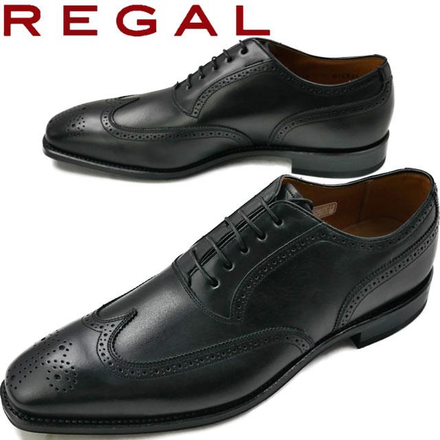 【送料無料】(一部地域除く) リーガル 01ER CJ REGAL フォーマル ビジネスシューズ ウイングチップ B(ブラック) GRYB(グレー×ブラック)
