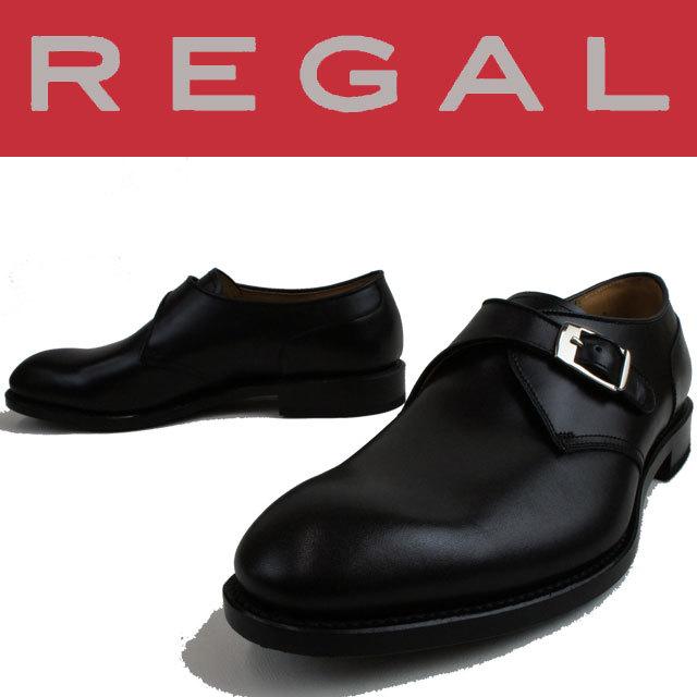 【P最大42倍】REGAL リーガル メンズ 靴 ビジネスシューズ 10HR BF ビジネス リクルート モンクストラップ ブラック evid