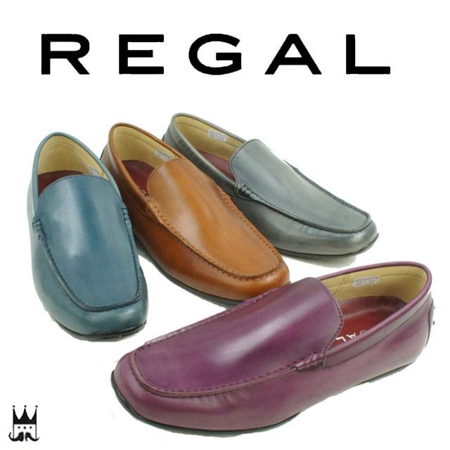 REGAL リーガル メンズ 靴 ドライビングシューズ 52JR カジュアルシューズ ヴァンプ レザー スリッポン evid