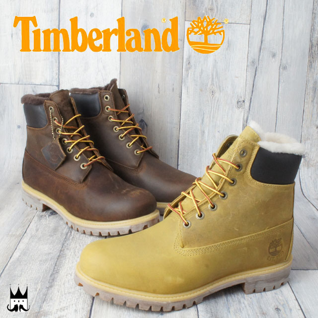 4f9f48e7b22 Cold protection two colors ブラウンウィート evid with Timberland Timberland 6  inches fur lined LT men boots TB09664B, the TB0A1157 6 IN FUR ...