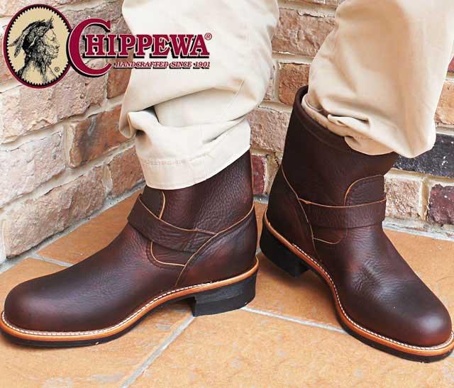 【送料無料】(一部地域除く) チペワ CHIPPEWA メンズ ブーツ 1901M90 BRIAR PITSTOP エンジニアブーツ ショートブーツ ショート丈 本革 レザー カジュアルシューズ 7インチブーツ evid