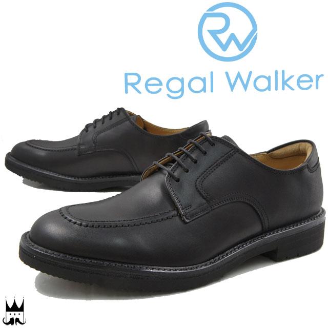 【送料無料】(一部地域除く) リーガルウォーカー REGAL WALKER メンズ ビジネスシューズ 102W 3E 大きいサイズ 紳士靴 リクルート ブラック evid