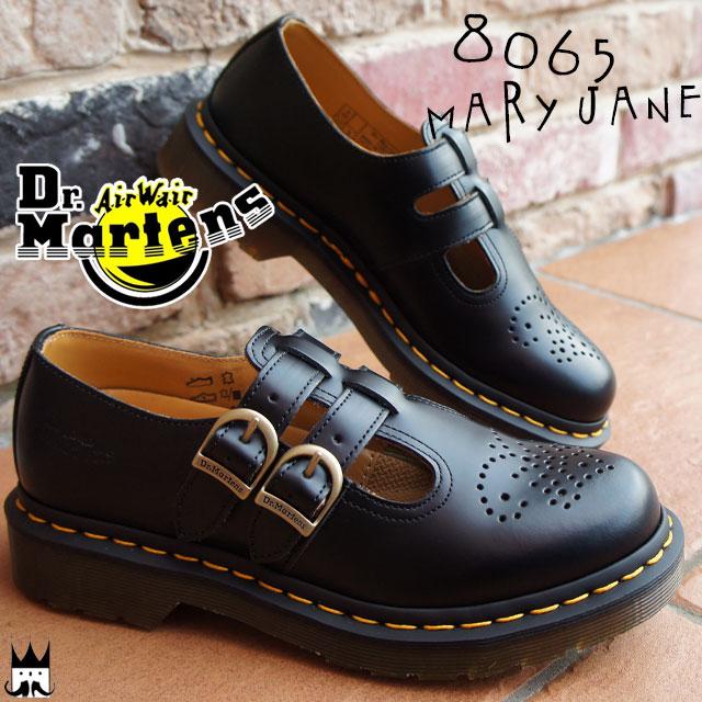 【送料無料】(一部地域除く) ドクターマーチン Dr.Martens レディース メリージェーン 8065 MARY JANE ブラック evid