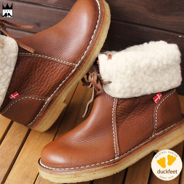 【あす楽】ダックフィート duckfeet レディース ブーツ 1310 ARHUS ショートブーツ 2WAY ボア付き ウォールナッツ Nut /-