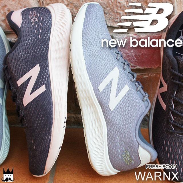 【あす楽】ニューバランス new balance レディース スニーカー WARNX ワイズB ローカット FRESH FOAM 運動靴 コーラル/ブラック グレー/グリーン evid qq5