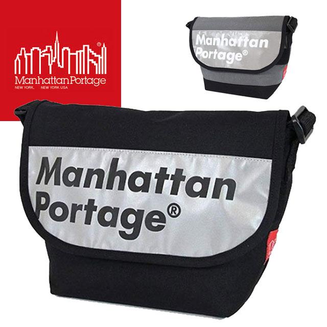 【送料無料】(一部地域除く)【あす楽】 マンハッタンポーテージ Manhattan Portage メンズ レディース バッグ MP1605-JR-REF-L ロゴオン リフレクター カジュアル メッセンジャーバッグ 反射 ナイロン ショルダー 斜め掛け B5 evid ab-c  /-