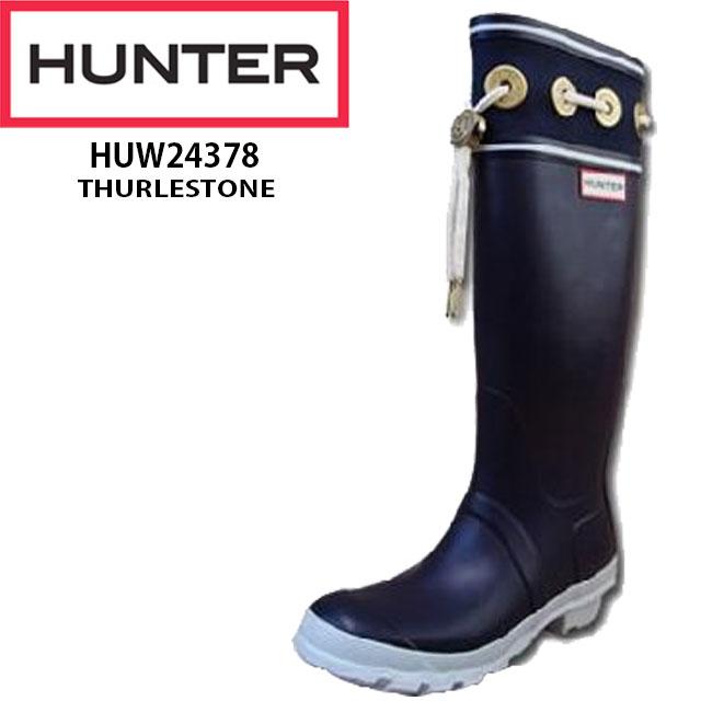 【送料無料】(一部地域除く)ハンター 靴 オリジナル サーレストーン HUW24378 HUNTER THURLESTONE メンズ・レディース NVY(ネイビー)・YEL(イエロー)・PER(ピーラーボックスレッド) レインブーツ RAIN BOOT ロング丈 マリン