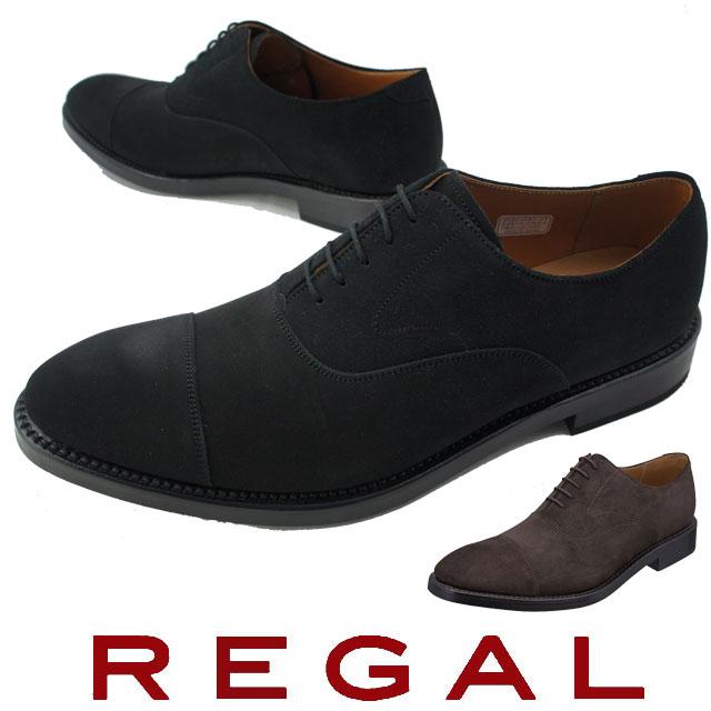 【送料無料】リーガル 靴 メンズ REGAL ビジネスシューズ 01RR 紳士靴 ブラックスエード ストレートチップ 日本製 メイドインジャパン 冬底 evid