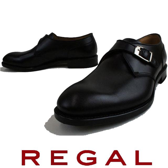 REGAL リーガル メンズ 靴 ビジネスシューズ 10HR BF ビジネス リクルート モンクストラップ ブラック evid