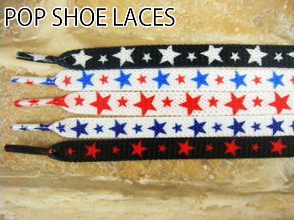 【メール便可】靴ひも シューレース POP SHOE LACES 120cm スター ポップシューレース 星柄 紐