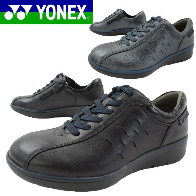 ヨネックス YONEX レディース ウォーキングシューズ SHW-LC92 スニーカー パワークッション 3.5E 黒 ブラック ネイビー evid // 1