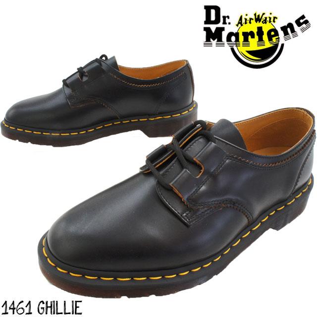 【あす楽】ドクターマーチン メンズ 3ホールシューズ 1461 GHILLIE 22695001【送料無料】(一部地域除く) 黒 ブラック ビジネスシューズ オックスフォードシューズ 3アイレット 3eye マニッシュ 革靴 紳士靴 カジュアル evid