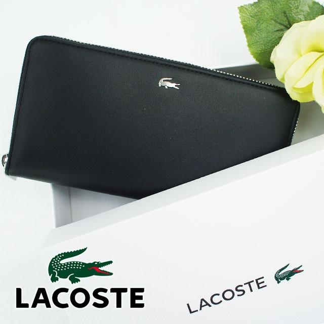 6ab8172c4d61 LACOSTE. FGシリーズ。ラウンドファスナータイプの長財布は、 たっぷりの容量で中身が出る心配がありません。
